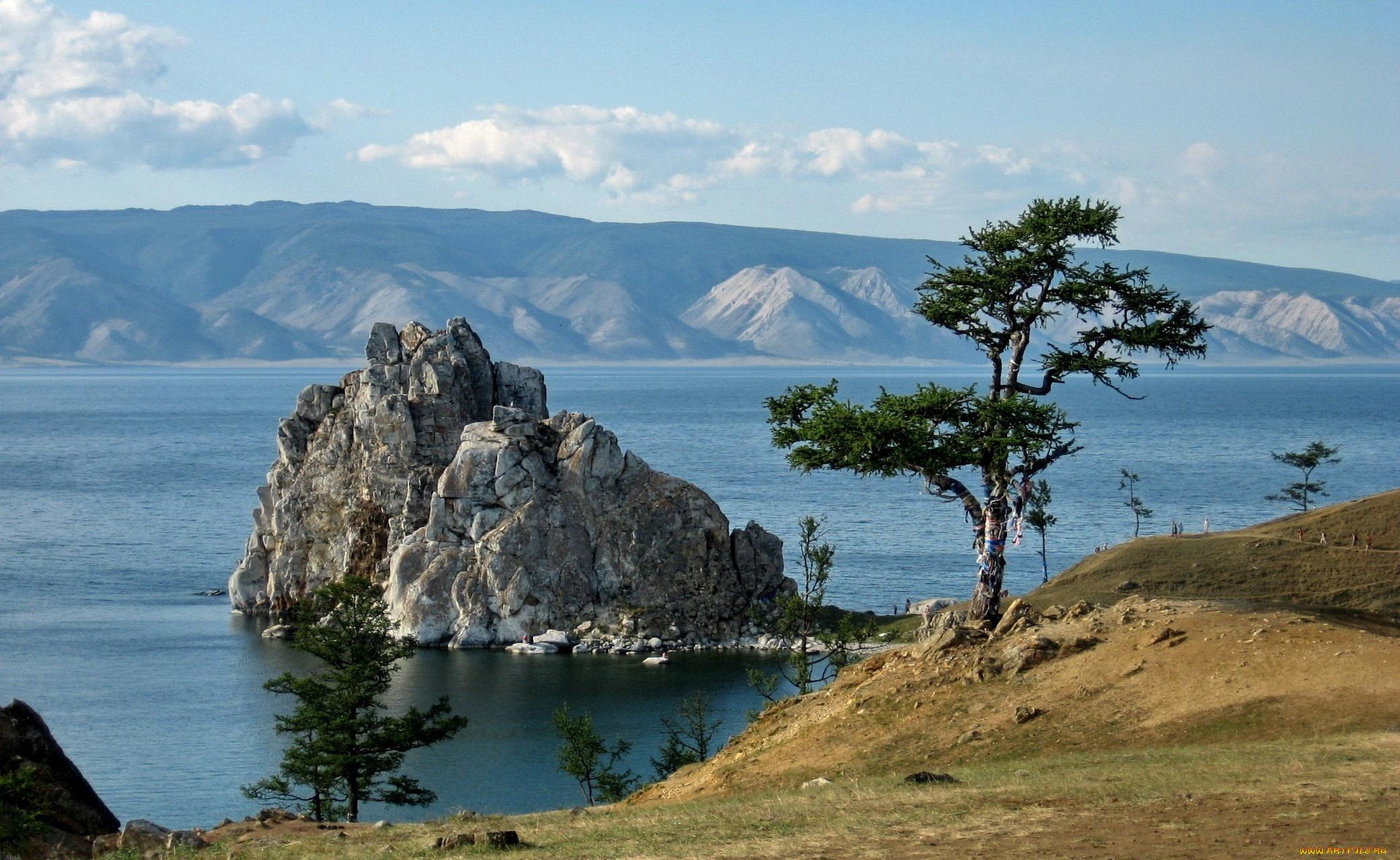 озеро байкал фото обои камнем семье